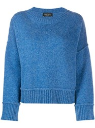 Roberto Collina Knitted Jumper Blue