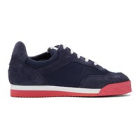 Comme Des Garcons Shirt Navy And Red Spalwart Edition Pitch Sneakers