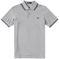 Fred Perry Slim Fit Twin Tipped Polo Grey
