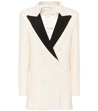Blaze Milano Everyday Wool Crepe Blazer White