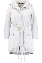 Marc By Marc Jacobs Padded Canvas Hooded Coat Sky Blue