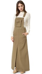See By Chloe Overall Maxi Dress Khaki