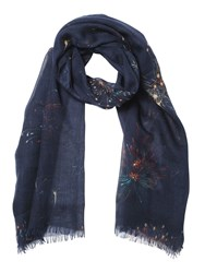 Valentino Fireworks Cashmere Silk And Wool Scarf