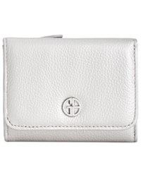 Giani Bernini Colorblock Softy Trifold Wallet Created For Macy's Silver Chambray