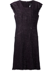 Chanel Vintage Fitted Dress Pink And Purple