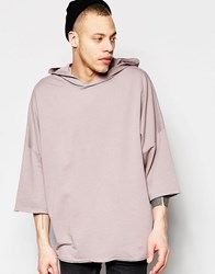 Asos Hooded Kimono With Acid Wash Sibo Pink Grey