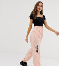 Ellesse Recycled Tracksuit Bottoms With Side Logo And Toggles Pink