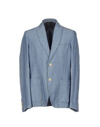 Royal Hem Suits And Jackets Blazers Men Sky Blue