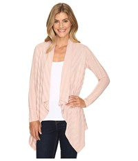 B Collection By Bobeau Simone Rib Knit Cardi Rose Women's Sweater Pink