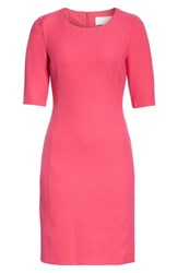 Boss Daletana Soft Twill Dress Deep Plumberry