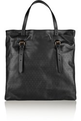 Tomas Maier Embossed Leather Tote Black
