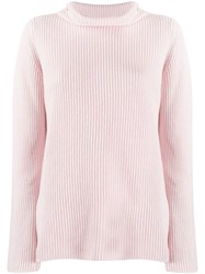 Peserico Ribbed Roll Neck Jumper Pink