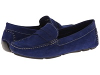 Massimo Matteo Penny Keeper Blue Nubuck Women's Moccasin Shoes