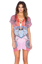 Clover Canyon Modern Paisley Cover Up Red