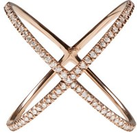 Eva Fehren Rose Gold Diamond X Ring