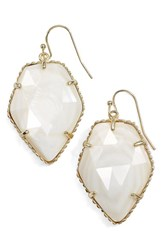 Kendra Scott Women's 'Corley' Faceted Stone Drop Earrings Gold White Mop