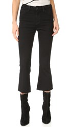 L'agence Sophia High Rise Crop Flare Jeans Noir