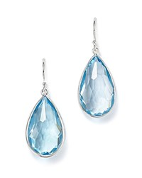Ippolita Sterling Silver Rock Candy Teardrop Earrings With Blue Topaz Blue Silver