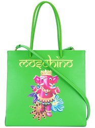 Moschino Jewelled Elephant Tote Green