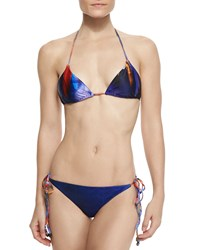 We Are Handsome Shaman Feather Print String Bikini