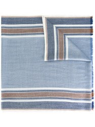 Loro Piana Striped Scarf Blue