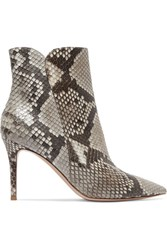 Gianvito Rossi Levy 85 Python Ankle Boots Snake Print