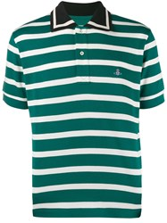 Vivienne Westwood Striped Polo Shirt Green