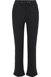 Red Valentino French Cotton Blend Terry Track Pants Black