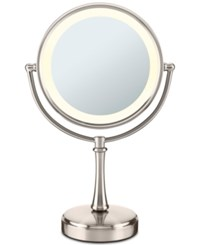 Conair Touch Control Double Sided Lighted Makeup Mirror Bedding Satin Nickel