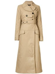 Ellery Overload Lightly Trench Coat Neutrals