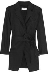 Title A Noren Linen And Cotton Blend Gabardine Blazer Black
