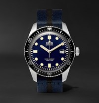 Oris Divers Sixty Five 42Mm Stainless Steel And Canvas Watch Black