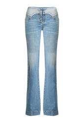 Roberto Cavalli Lace Up Flare Jeans