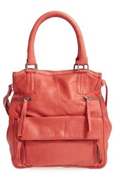 Day And Mood 'Hannah' Leather Satchel Red Burned Red