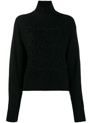 Karl Lagerfeld Soutache Detail Jumper Black