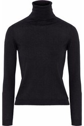 Red Valentino Redvalentino Woman Point D'esprit Trimmed Cashmere And Silk Blend Turtleneck Sweater Black