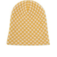 The Elder Statesman Women's Cashmere Checked Beanie Yellow