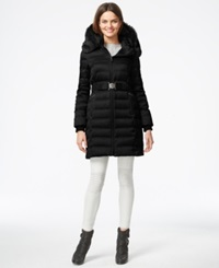 Dkny Quilted Puffer Parka Jacket Black