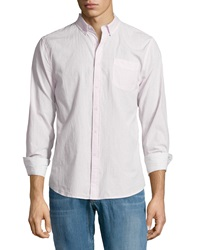 Joe's Jeans Textured Cotton Sport Shirt Pink White