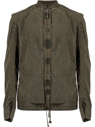 Masnada Zipped Fitted Jacket Brown