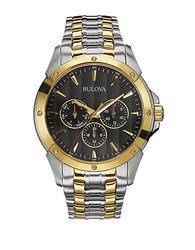 Bulova Mens Two Tone Quartz Bracelet Watch