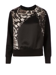 Neil Barrett Python Print Panel Sweatshirt Black