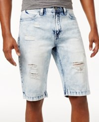 Sean John Men's Jean Shorts Bleach Blast