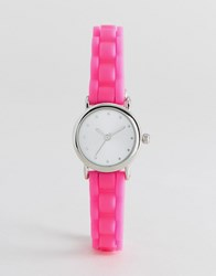 New Look Mini Neon Silicone Watch Neon Pink