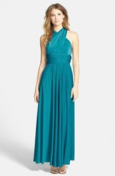 Women's Dessy Collection Convertible Front Twist Jersey Gown Oasis