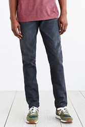 Kato Grey Puma Slouch Fit Selvedge Jean Charcoal