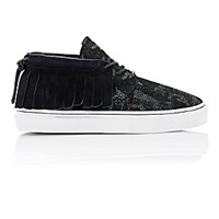 Clear Weather Men's Fringed One O One Sneakers Black Blue Black Blue