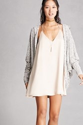 Forever 21 Dolman Hooded Cardigan Heather Grey