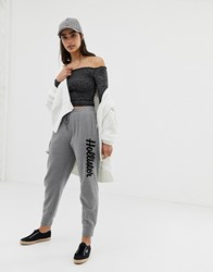 Hollister Boyfriend Joggers With Embroidered Logo Grey