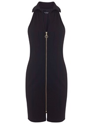 Miss Selfridge Zip Front Pencil Dress Black